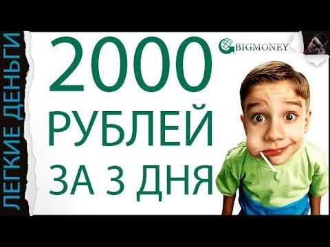 Как заработать 2000 руб в день в интернете
