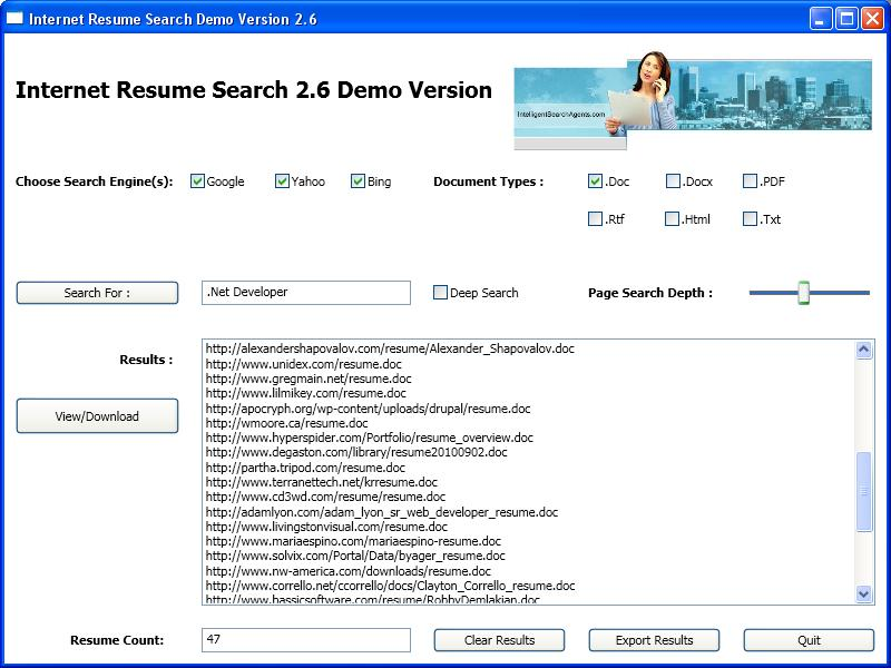 resume search - Search For Resumes Free