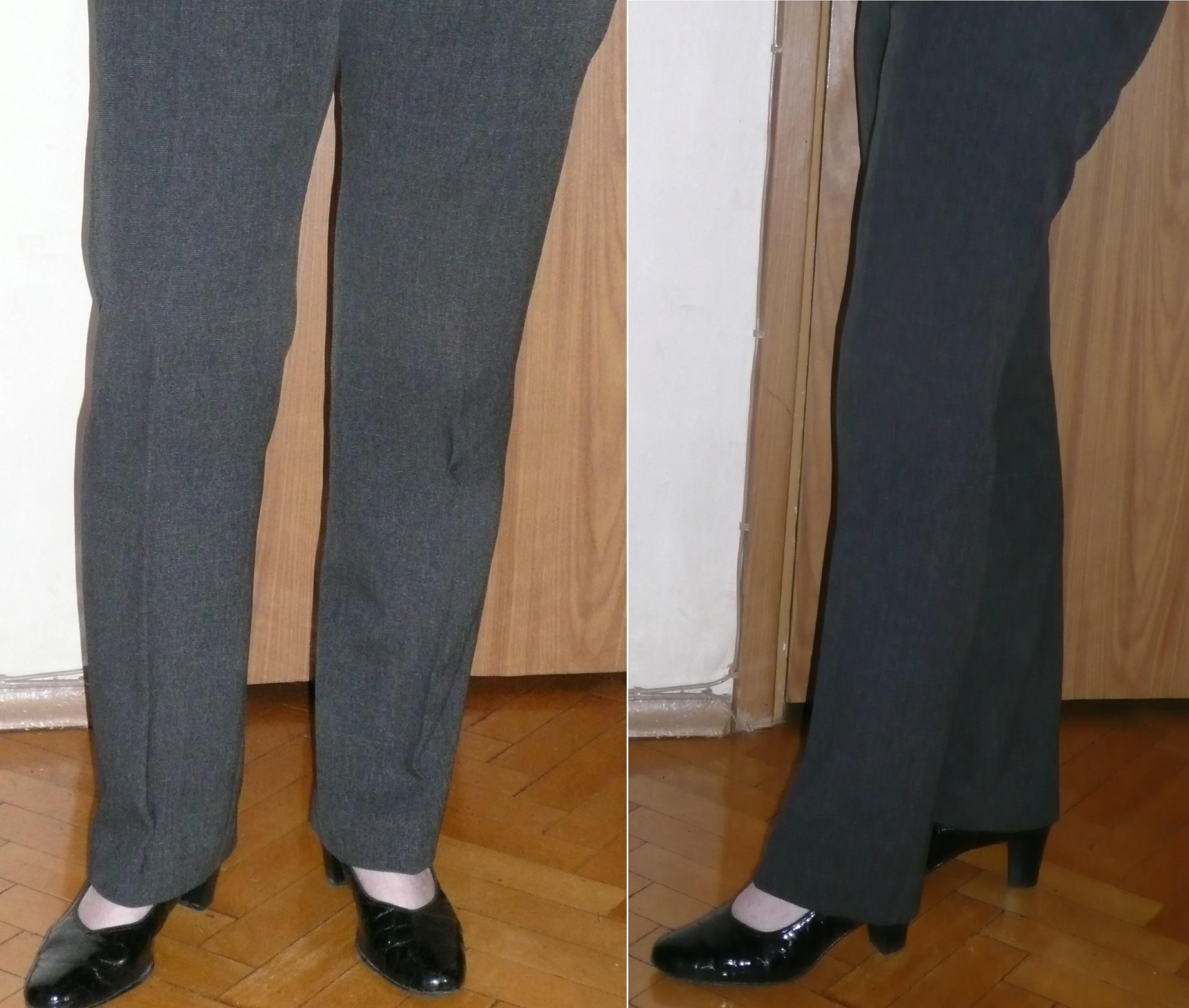 как из прямы широких брюк сделать клеши