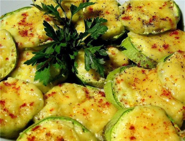 рецепт запеченных кабачков с помидор с фото