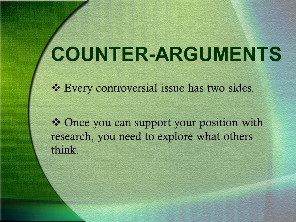 Controversial topics research papers