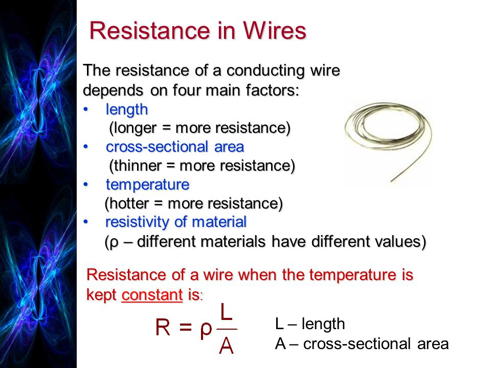 Write my physics coursework resistance of a wire
