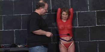 Girls hogtied and pissing