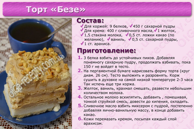 Торты рецепты быстрые простые в домашних условиях