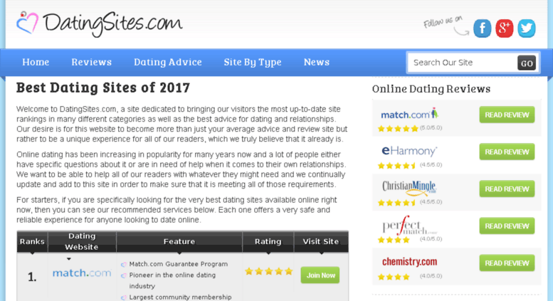 Dating sites ratings online