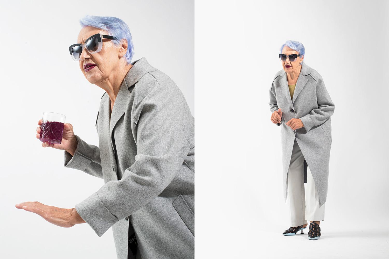 Пальто MSGM, 45 000 р., брюки секонд-хенд «Мегастиль», 350 р., топ Whistles, 8000 р., очки Cutler and Gross, 22 400 р., мюли Kenzo, 18 400 р.