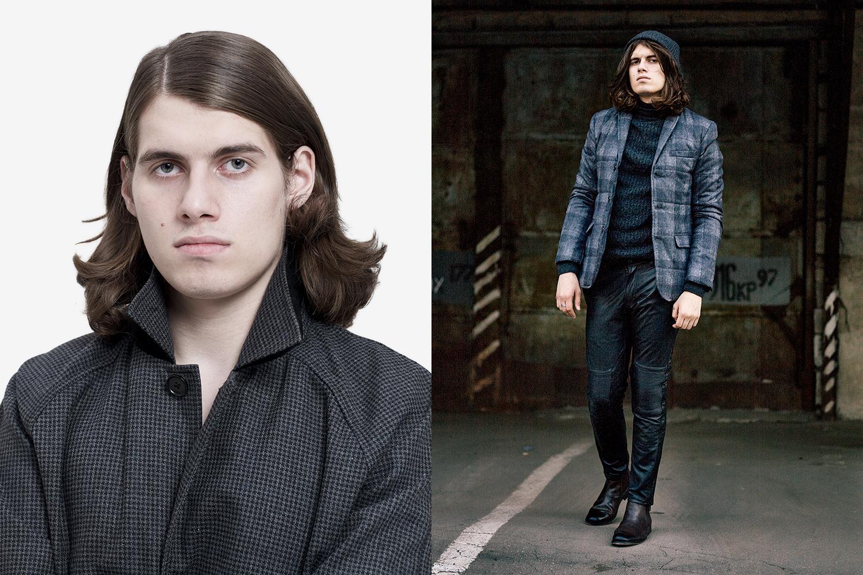 Слева: пальто Asos, 3400 р. Справа: пиджак Uniqlo, 2499 р., свитер Asos, 3180 р., брюки Asos. 4999 р., челси Asos, 3550 р.