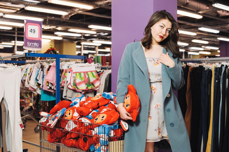 На Свете: платье Zara, 799 р., пальто «Ксения», 1999 р., мягкая игрушка, 399 р., лодочки, 849 р.