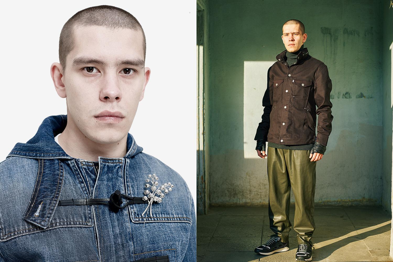 Слева: куртка Dior, 56900 р.,  брошь Dior, 14960 р. Справа: куртка Levi's, 8900 р., свитер Uniqlo, 1299 р.,  брюки Zara, 3299 р., кроссовки Zara, 2199 р.