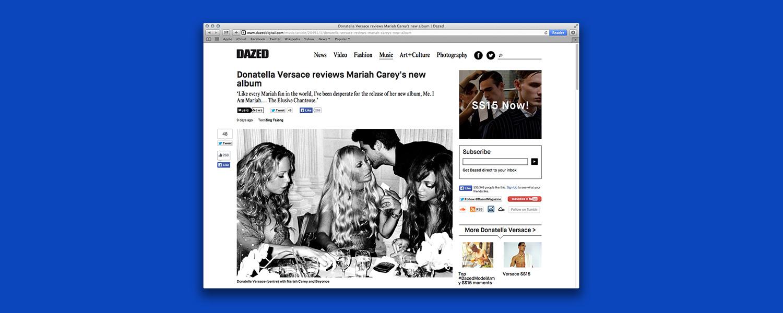 Рецензия Донателлы Версаче на альбом Мэрайи Кэри