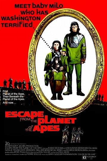 Постер Бегство с планеты обезьян