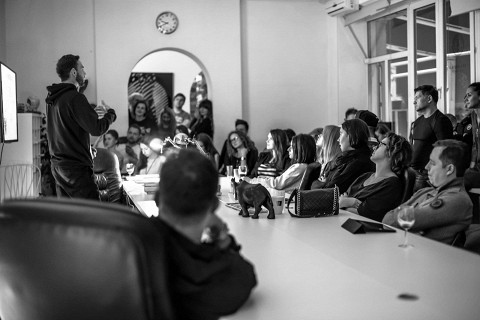 Лекция арт-директора парка Горького Константина Обухова осенью 2014 года