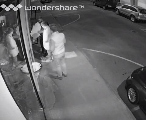 Видео с места преступления