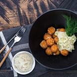Ресторан Queen V - фотография 4 - Крокеты из копченого лосося