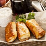 Ресторан Хинкальная на Новом Арбате - фотография 5 - Блинчики по-султанский от Шеф-повара
