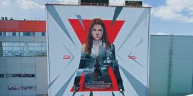 Граффити с Черной Вдовой появился в Волгограде. По канону героиня родилась в этом городе