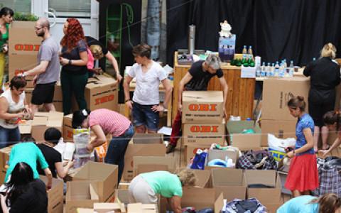 На Воробьевых горах принимают помощь пострадавшим от наводнения на Дальнем Востоке