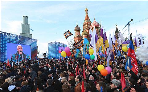 Как Москва отпраздновала годовщину присоединения Крыма