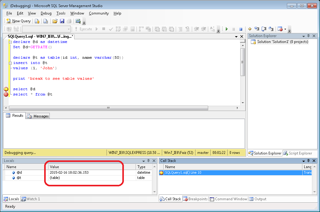 Using SQL Scripts - Oracle