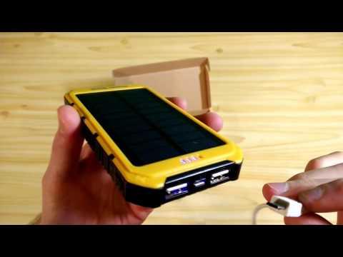 Повер банк с солнечной батареей 20000 алиэкспресс