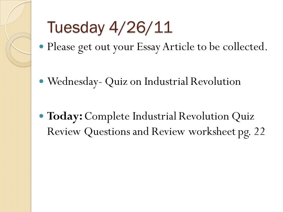 Write my industrial revolution essay