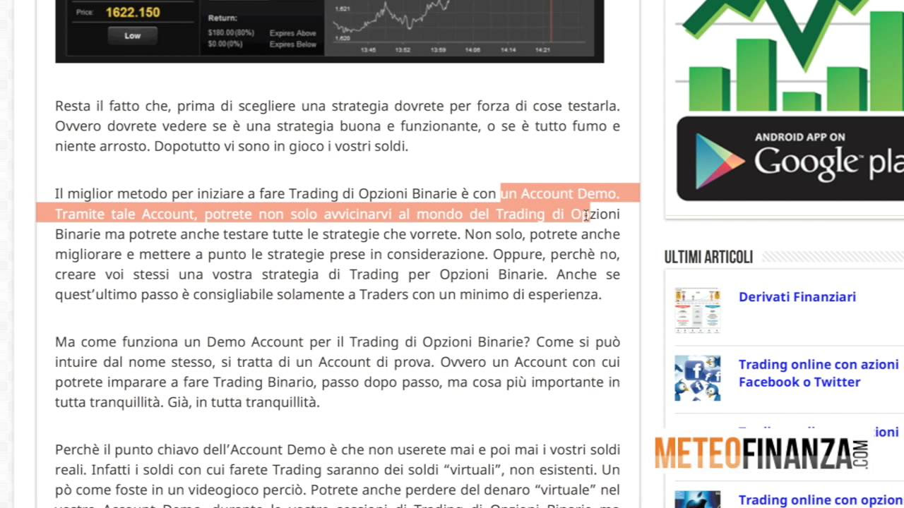 Highlow binary options demo