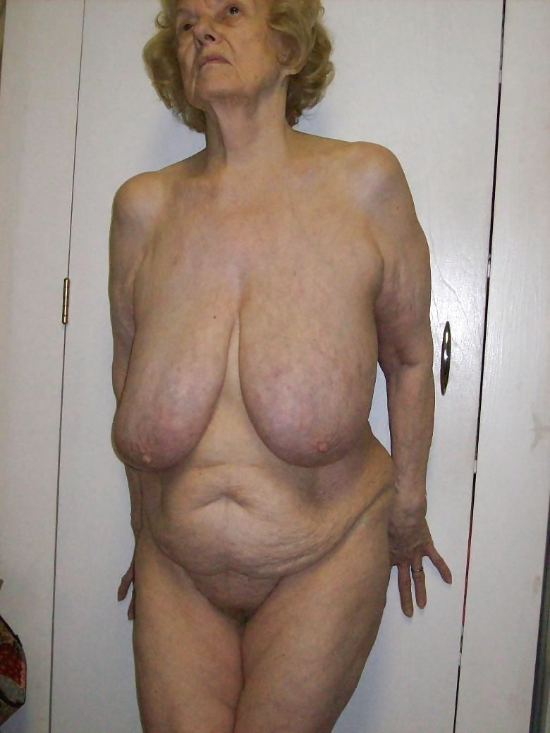 Old saggy grandma tits