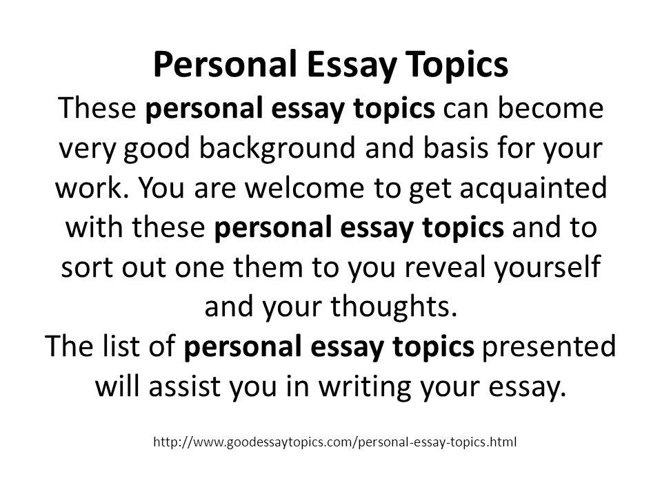 Persuassive essay topics