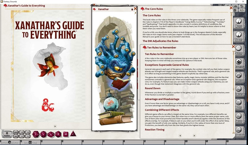 E DD - Xanathar's Guide To Everything - Library