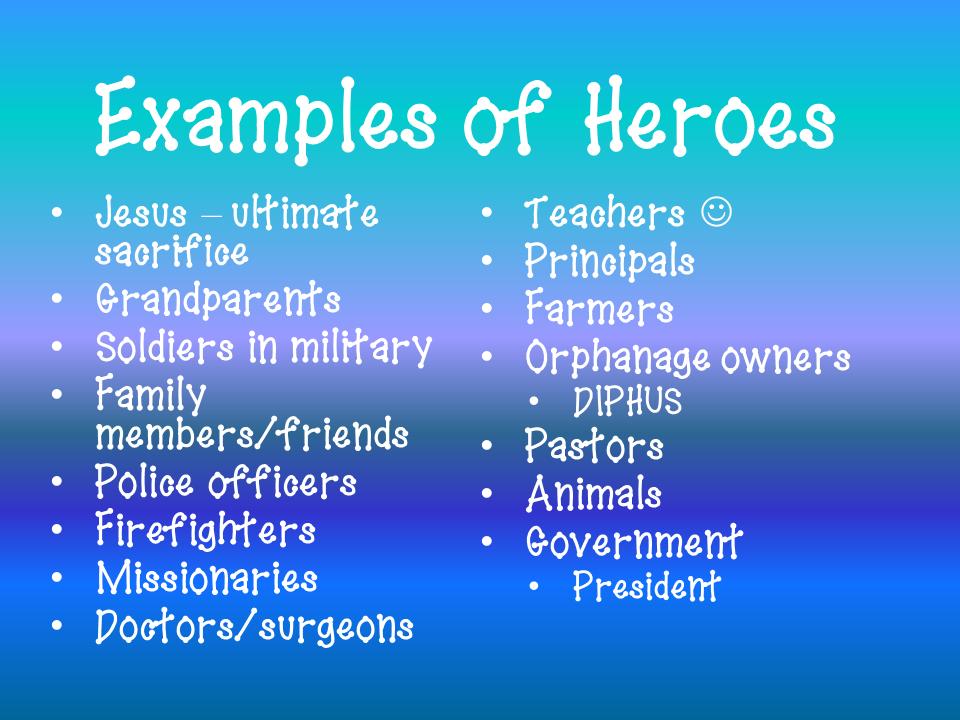 Hero essays examples