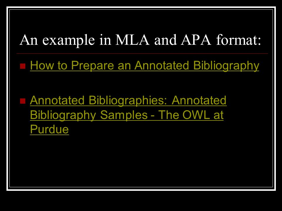 Owl at purdue annotated bibliography