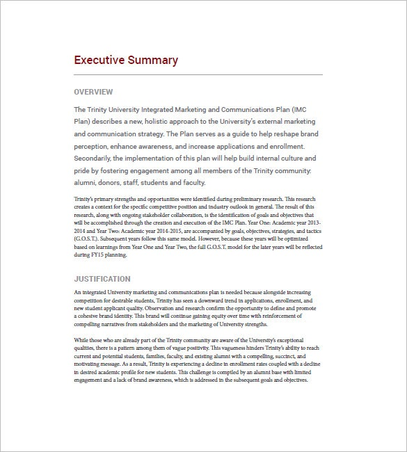 Write my example of an executive summary for a research paper