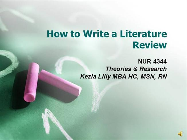 Literature Review for a research proposal (Psychology