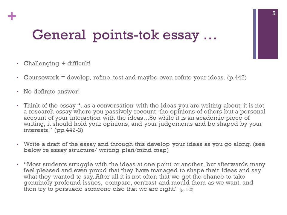 Tok essay samples