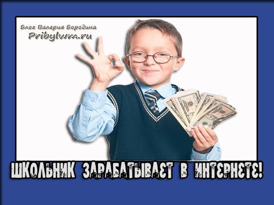 Школьник хочет заработать в интернете