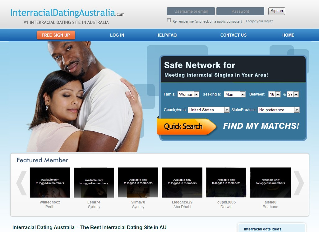 Dating site in australia