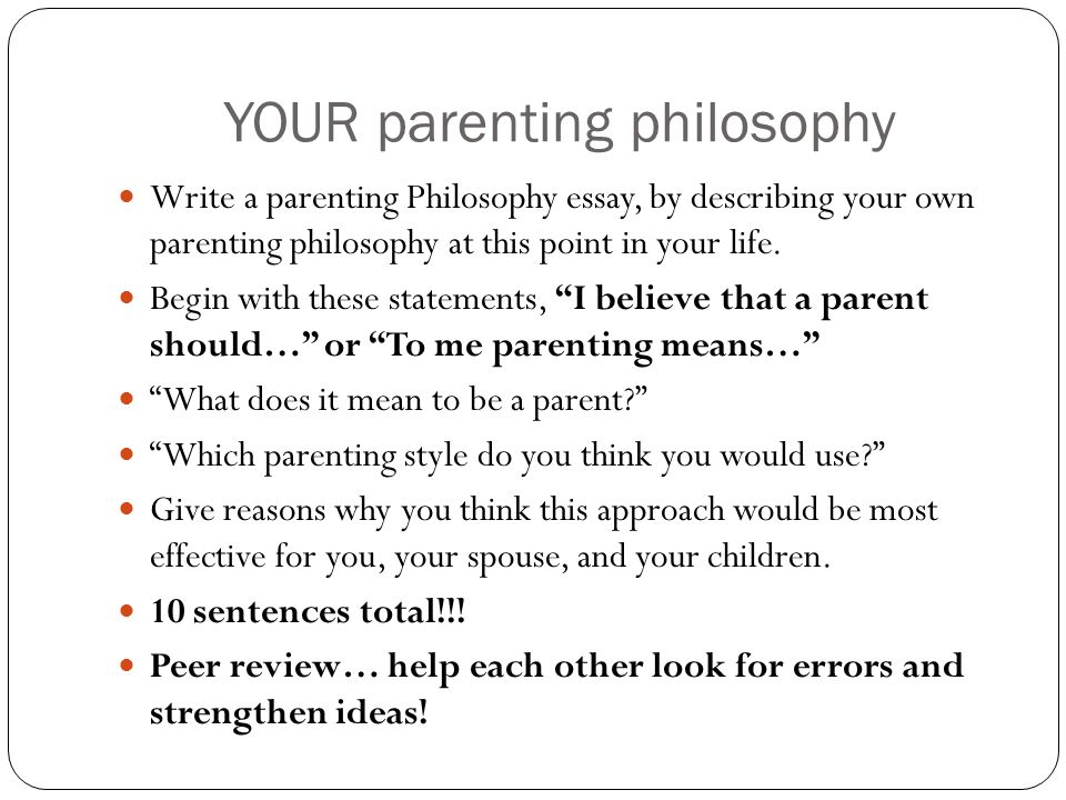 parenting styles essay conclusion Authoritative parenting essay sample  it will present an overview of the authoritative parenting style and the characteristics of the authoritative parent and.