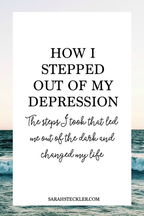 Write my how can i get out of depression