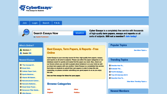 Free Papers - Plagiarism Free Term Papers, Research Papers