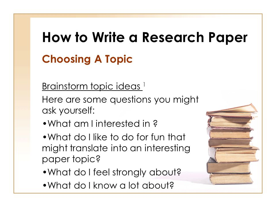 Write my interesting topic for research paper