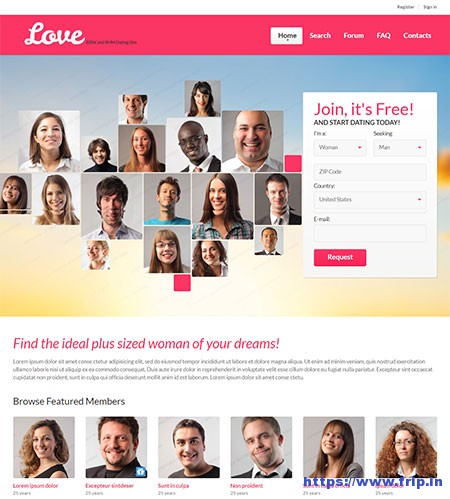 Dating website interests examples