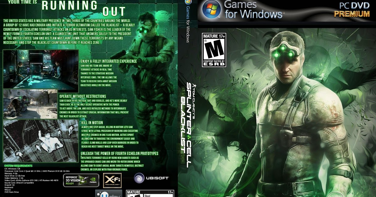 Скачать торрент Tom Clancy's Splinter Cell Blacklist