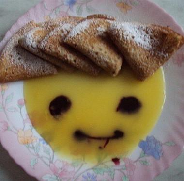 Рецепт Ореховые блины сапельсиновым соусом