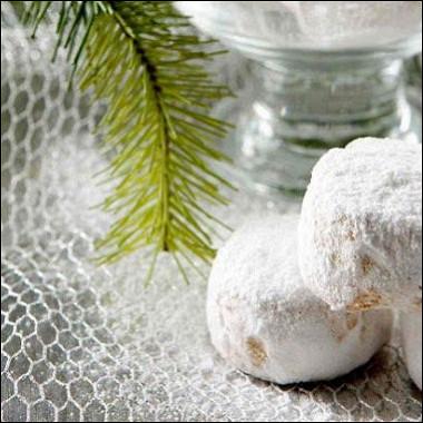 Рецепт Курабье —традиционная греческая рождественская сладость смастикой