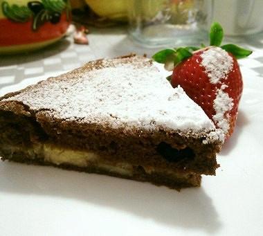 Рецепт Шоколадный кекс сбанановой прослойкой