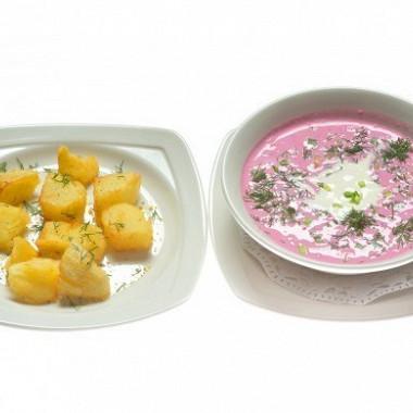 Рецепт Холодный борщ (Saltibarsciai)