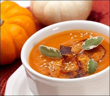 Рецепт Тыквенный крем-суп скокосовым молоком, карри икумином