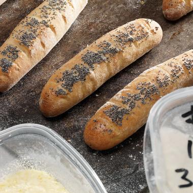 Рецепт Багеты скартофельными хлопьями имаком