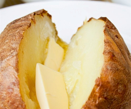 Запеченный картофель с морской солью