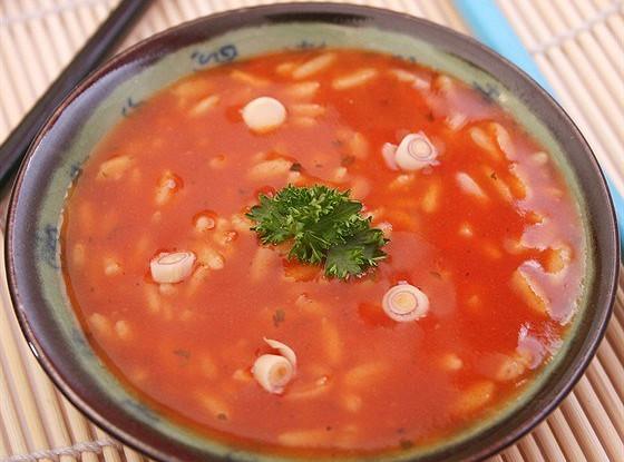 Томатный суп с диким рисом